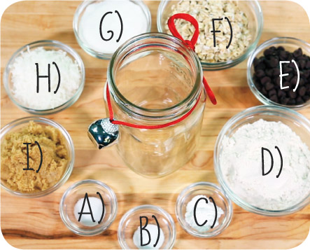 DIY Cowboy Cookies Gift Jar