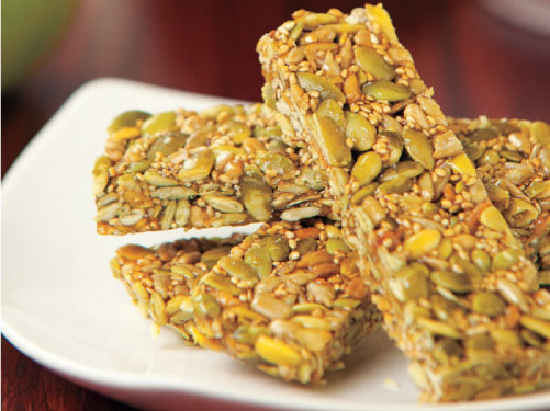 3-Seed Honey Bars