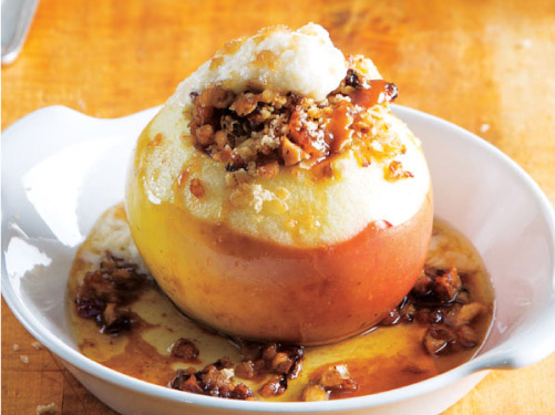 Baked Stuffed Apples with Honey-Mascarpone