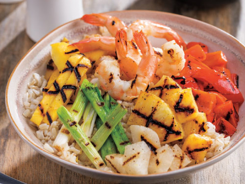 Grilled Hawaiian Shrimp Bowl