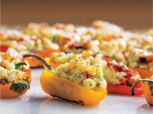 Grilled Stuffed Mini Peppers