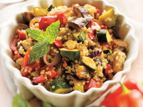 Grilled Vegetable & Quinoa Salad with Herb-Feta Vinaigrette
