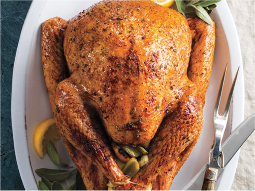 Honey-Glazed Roasted Turkey with Lemon-Sage Gravy
