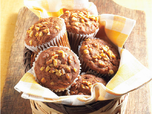 Honey Walnut Bran Muffins