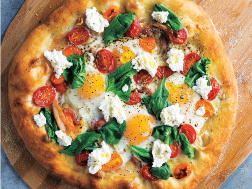 Prosciutto & Egg Breakfast Pizza