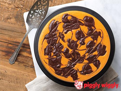 Pumpkin Chocolate Swirl Cheesecake