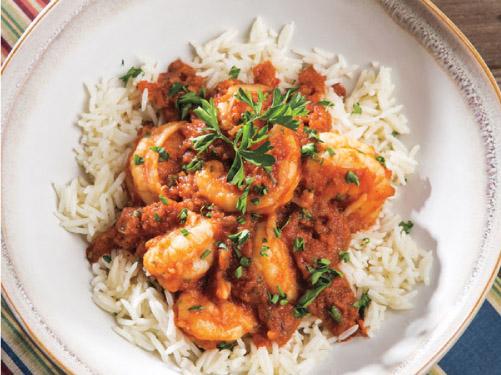 Shrimp Diablo with Rice