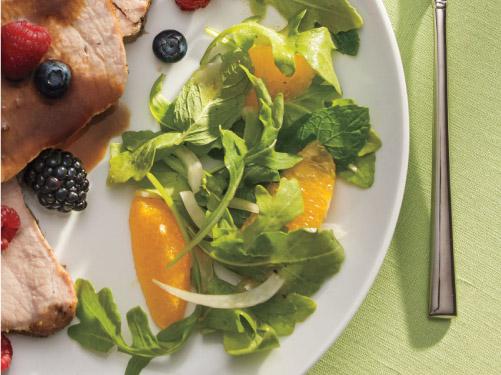 Summer Greens Salad with Orange Vinaigrette