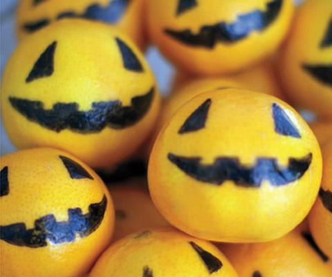 Orange Jack-O'-Lanterns