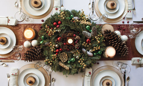 Holiday Table Décor on a Budget