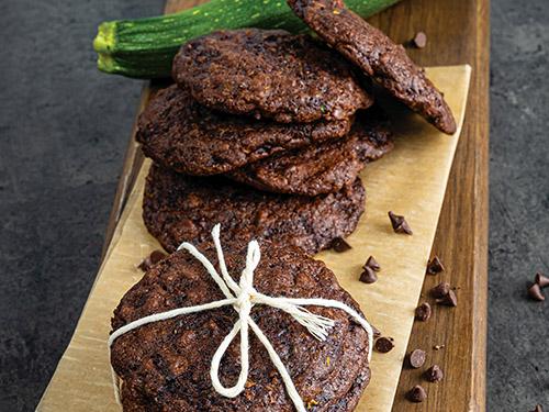 Chocolate-Chocolate Chip Zucchini Cookies