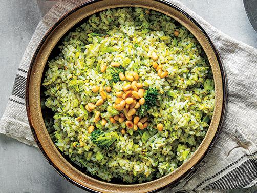 Garlicky Pesto-Broccoli Rice
