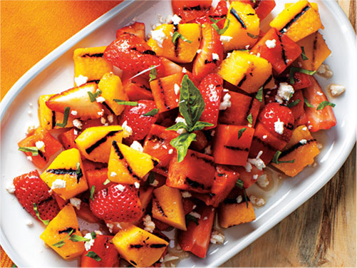 Grilled Fruit Salad with Balsamic Drizzle
