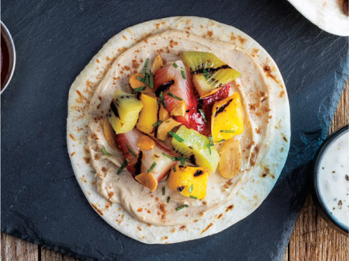 Grilled Fruit Tacos