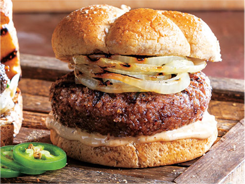 Grilled Red Beans & Rice Burgers