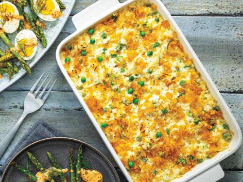 Gruyère & Pea Cheesy Potato Casserole