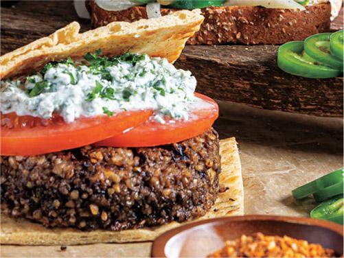 Middle Eastern Mushroom Burgers
