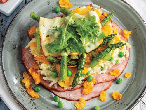 Open-Faced Cheesy Ham Melts