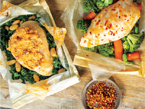 Parchment Packet Asian Chicken & Vegetables