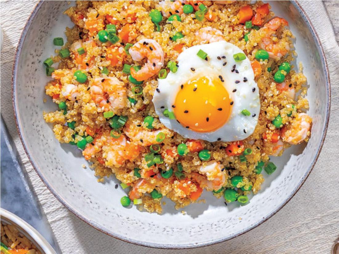 Shrimp Fried Quinoa Bowl