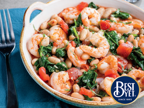 Shrimp with White Beans and Tomatoes
