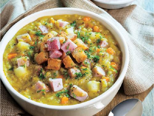 Slow Cooker Split Pea & Ham Soup