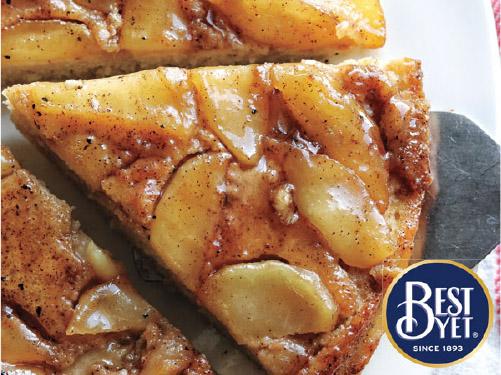 Upside-Down Apple Skillet Pancake