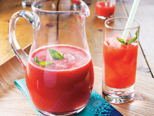 Watermelon-Basil Lemonade