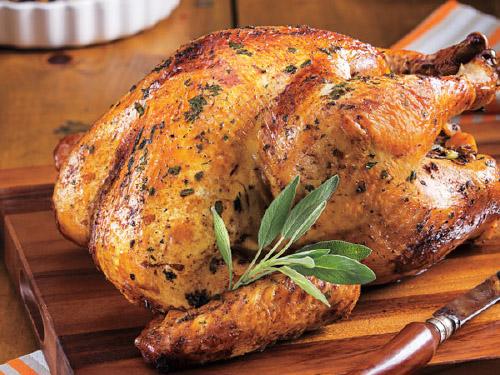 Wild Rice Stuffed Turkey with Sage Gravy